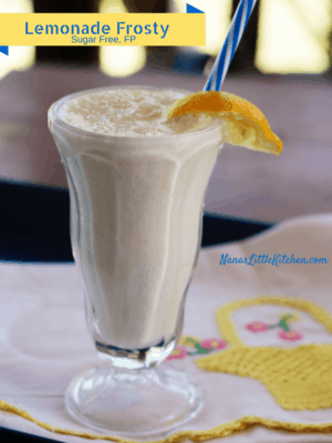 Sugar Free Lemonade Frosty (Low fat, Low carb, FP)