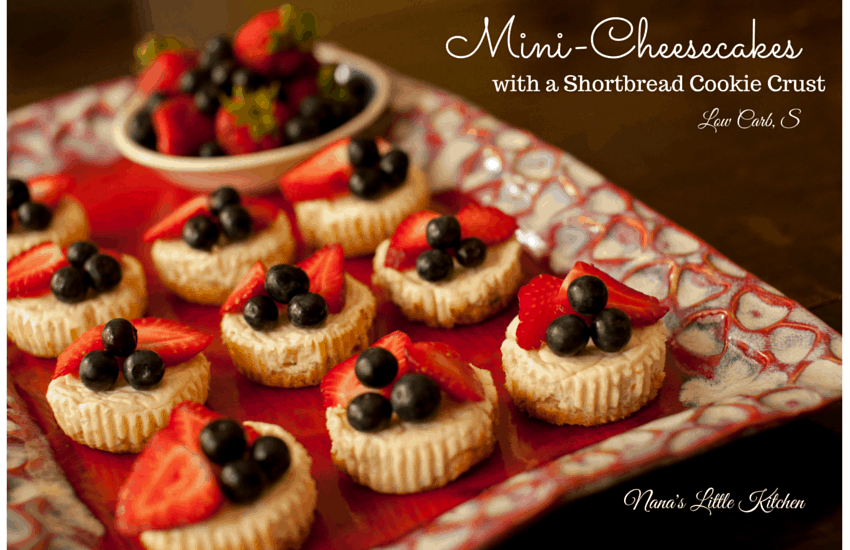 Shortbread Crusted Mini Cheesecakes - Nana's Little Kitchen