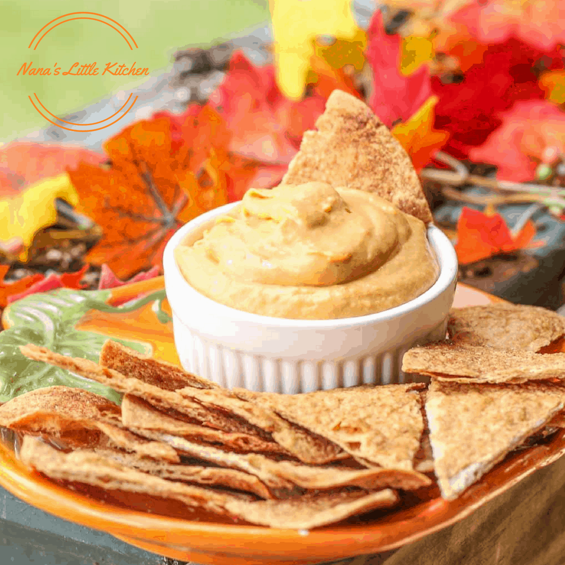 Pumpkin Pie Dip with Cinnamon Chips