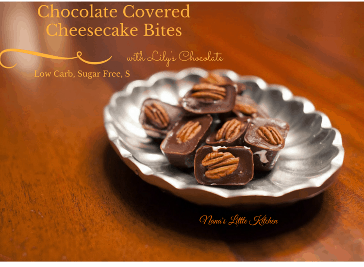 Turtle Cheesecake Bites Low Carb THM S