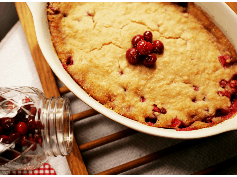 Easy Cran-Cherry Cobbler