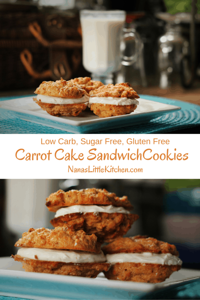Sugar Free Carrot Cake Cookies