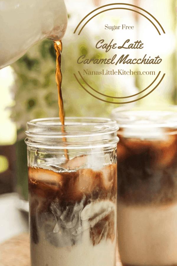 Cafe Latte Caramel Macchiato, Trim Healthy Mama, THM, Low Carb, Sugar Free