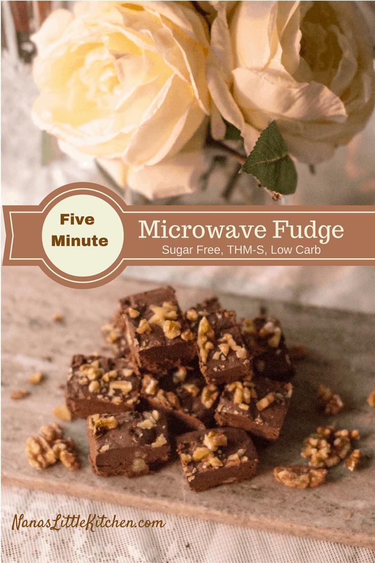 Sugar Free Five Minute Microwave Fudge