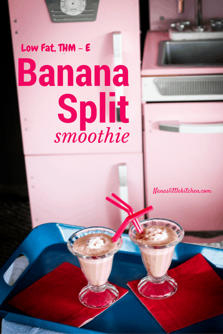 Low Fat Banana Split Smoothie