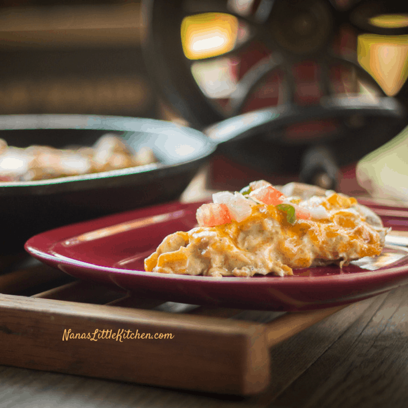 Low Carb Chicken Enchilada Skillet