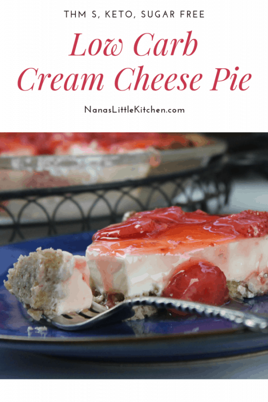 Sugar Free Strawberry Cream Cheese Pie