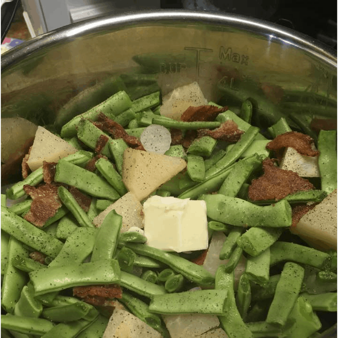 Southern Green Beans with Jicama