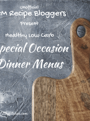 Special Occasion Dinner Menus