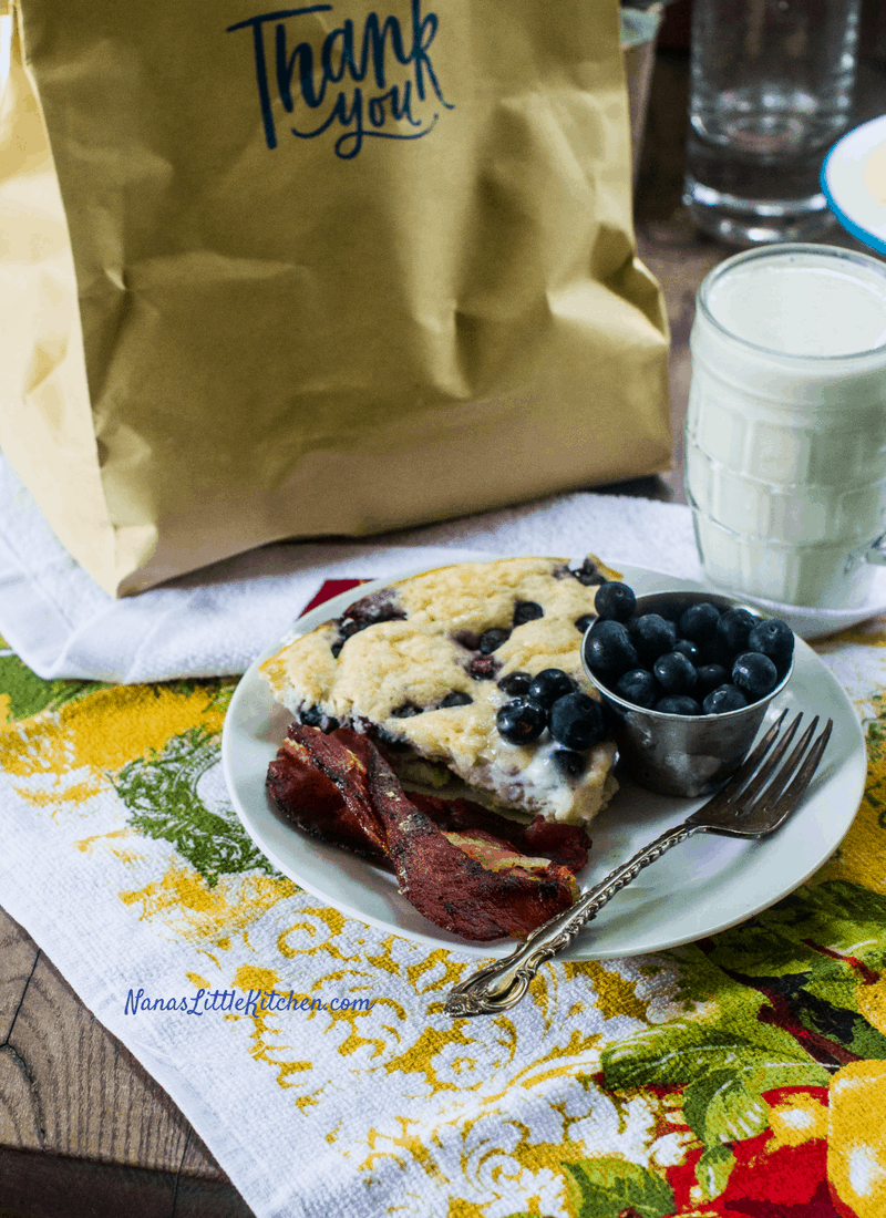 Blueberry Skillet Bread THM S Low Carb