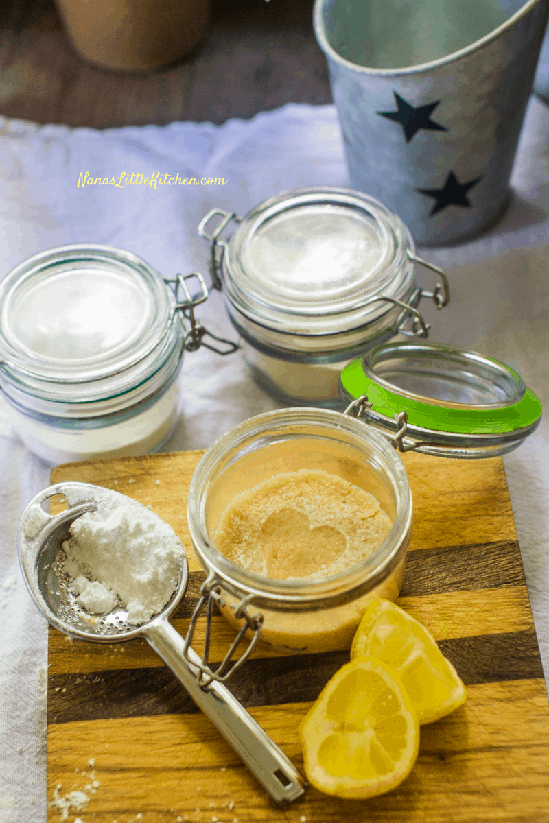 Lemon Bar in a Jar THM S Low Carb