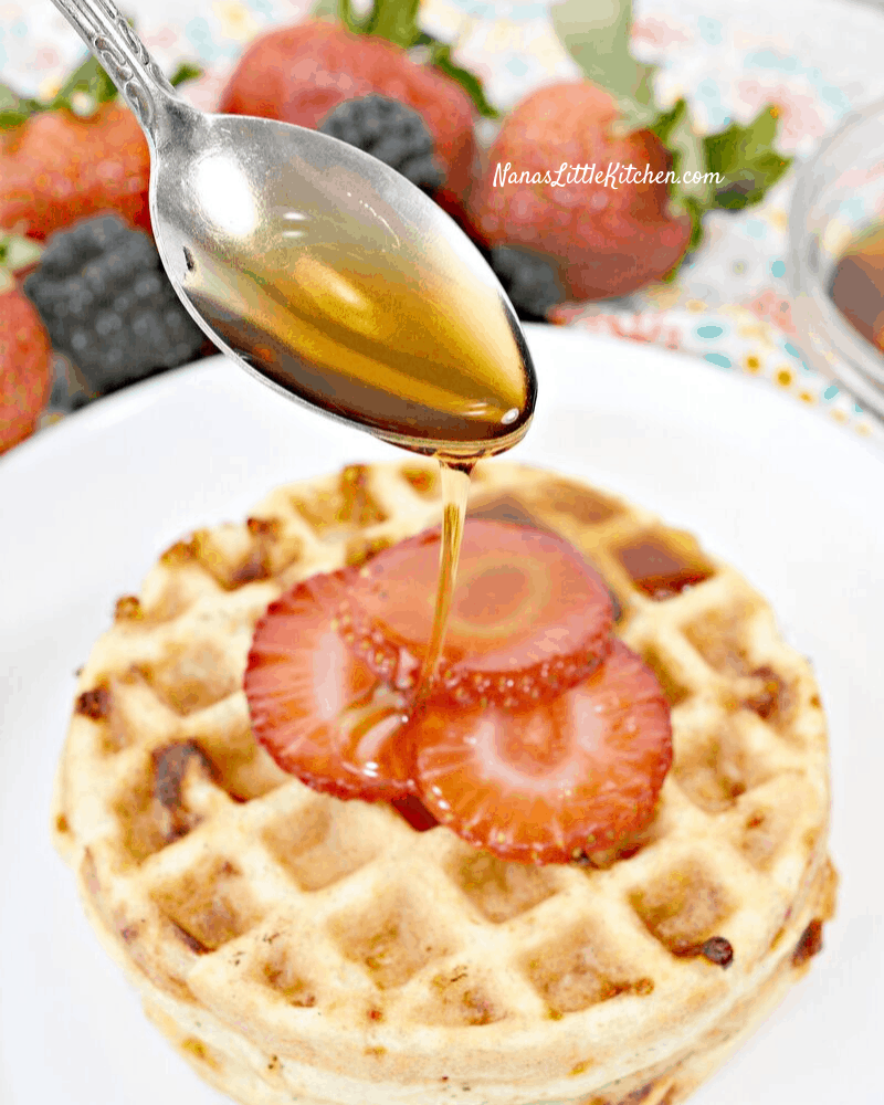 3 Ingredient Waffles Using Low Carb Biscuit Mix