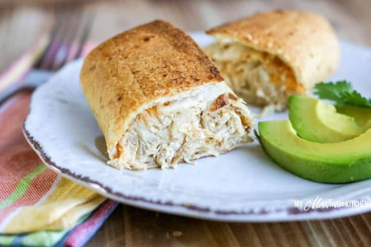 Cheesy Chicken Air Fryer Chimichangas | Low Carb, Keto, THM-S