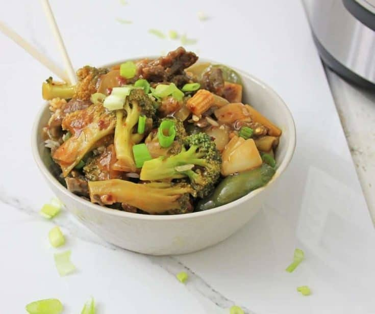 Hunan Beef With Garlic Sauce: Instant Pot, Low Carb, THM S, Keto