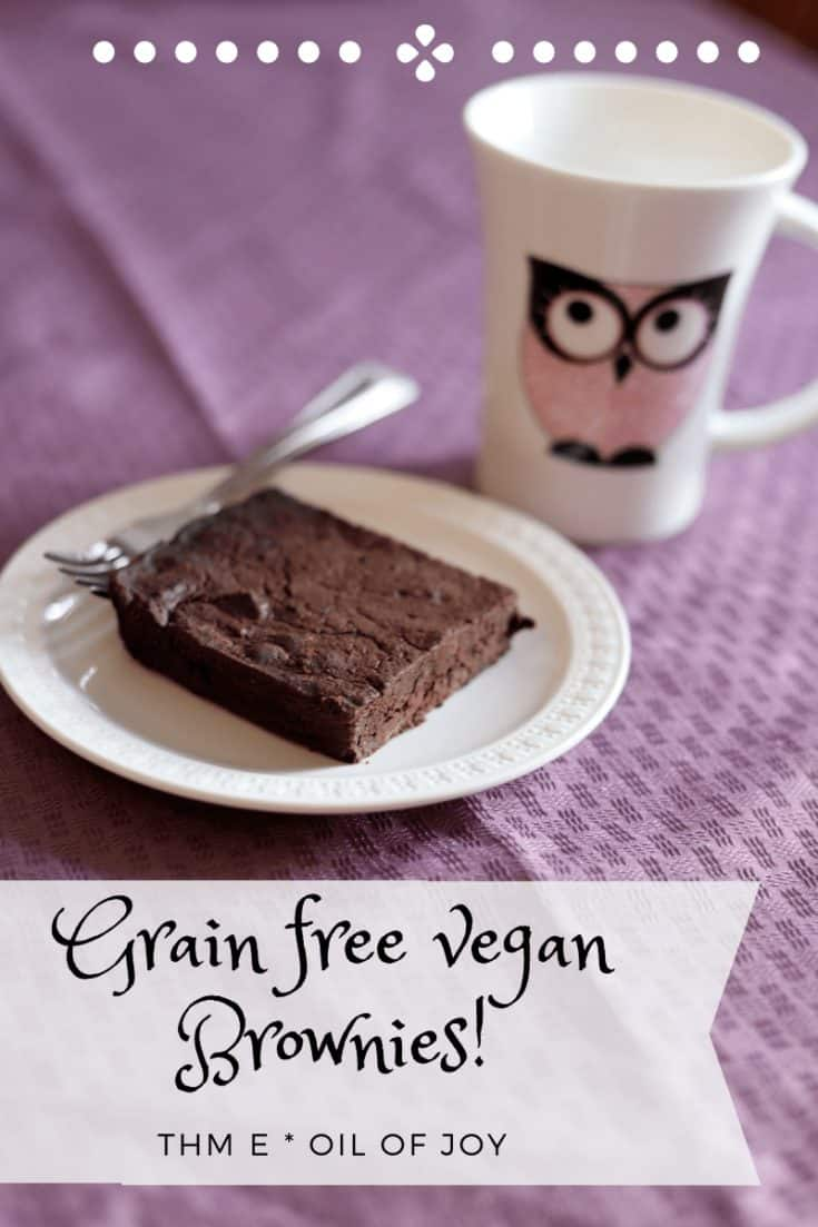 Grain free vegan Brownies! THM E - Anointed with Oil of Joy